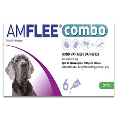 Amflee Combo Hond XL ( boven 40 kg ) - 6 Pipetten | Petcure.nl