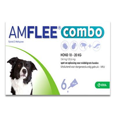 Amflee Combo Hond M (10 - 20 kg) - 6 Pipetten | Petcure.nl