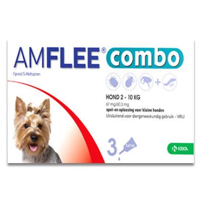 Amflee Combo Hond S ( 2 -10 kg ) - 3 Pipetten | Petcure.nl