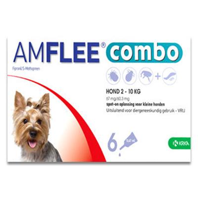 Amflee Combo Hond S (2 -10 kg) - 6 Pipetten | Petcure.nl