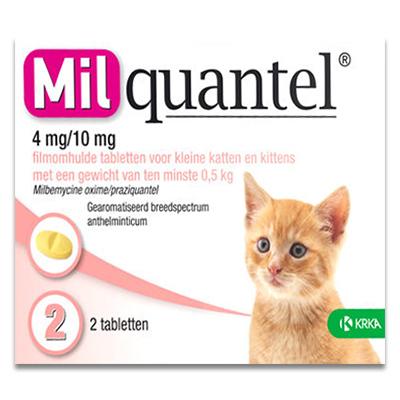 Milquantel Kleine Katze/Kätzchen 0.5 - 2 kg (4 mg/10 mg) - 2 Tabletten