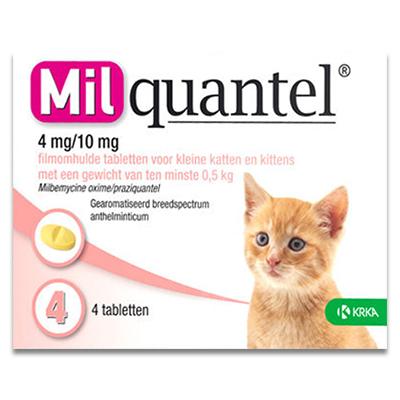 Milquantel Kleine Katze/Kätzchen 0.5 - 2 kg (4 mg/10 mg) - 4 Tabletten