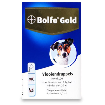 Bolfo Gold 100 - Hond (4-10 kg) - 4 Pipetten | Petcure.nl