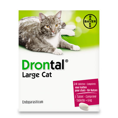 Drontal Grand Chat (6kg+) - 24 comprimés