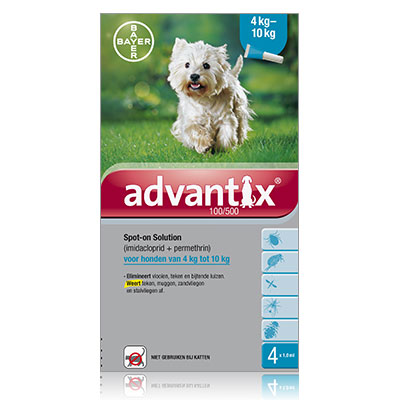 Advantix 100/500 (Hund 4 - 10 kg) - 4 Pipetten (EU)