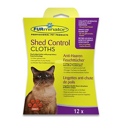 FURminator Shed Control Doekjes (Kat) - 12 Stuks | Petcure.nl