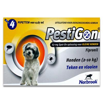 Pestigon - Hond - S (2-10 kg) - 4x1 Pipetten | Petcure.nl