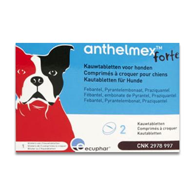 Anthelmex Forte (Entwurmung) Hund - 2 Kautabletten