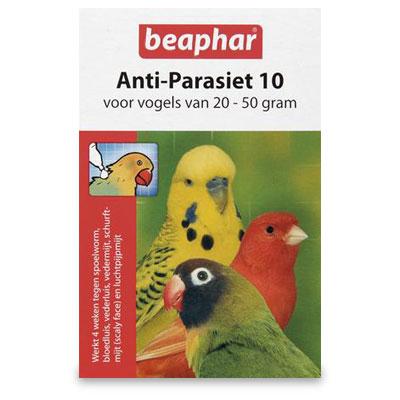 Beaphar Anti Parasit 10 Voegel - 20 bis 50 g