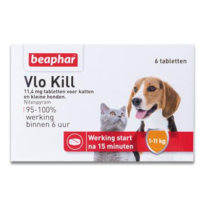 Beaphar Vlo Kill+ Chien/Chat (< 11 kg) - 6 Piecès
