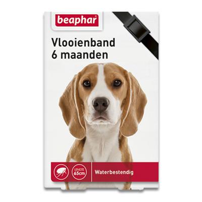 Beaphar Vlooienband (6mnd) Hond - Zwart | Petcure.nl