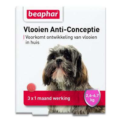 Beaphar Vlooien Anti Conceptie - S Hond (2,6-6,7kg) - 3 stuks