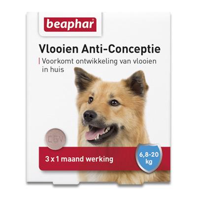 Beaphar Vlooien Anti Conceptie - M Hond (6,8-20kg) - 3 stuks