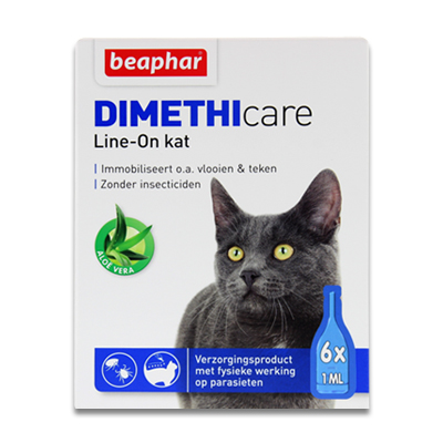 Beaphar Dimethicare Line-On Katze - 6 Pipetten