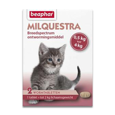 Beaphar Milquestra Kleine Katze/Kitten (0.5 - 4kg) - 2 Tabletten