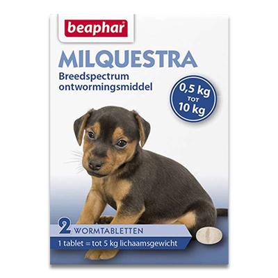 Beaphar Milquestra Kleiner Hund/Welpen (0,5 - 10kg) - 2 Tabletten