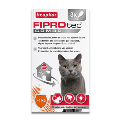 FIPROtec Combo Katze - 3 Pipetten