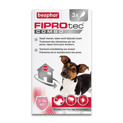 FIPROtec Combo Hond (2 - 10 kg) - 3 Pipetten | Petcure.nl