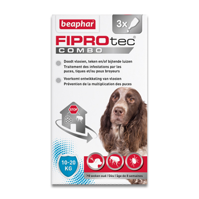 FIPROtec Combo Hond (10 - 20 kg) - 3 Pipetten | Petcure.nl