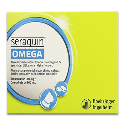 Seraquin Omega 900 mg (kat/kleine hond) - 60 Tabletten | Petcure.nl