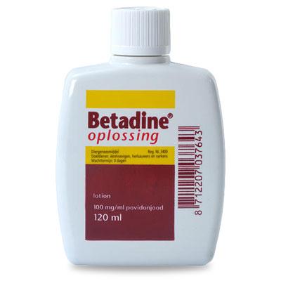 Betadine Jodium Oplossing - 120 ml | Petcure.nl