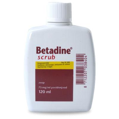 Betadine Scrub - 120 ml | Petcure.nl
