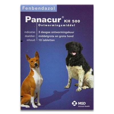 Panacur - KH 500 mg - 10 Tabletten | Petcure.nl
