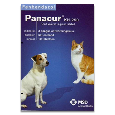 Panacur - KH 250 mg - 10 Tabletten | Petcure.nl