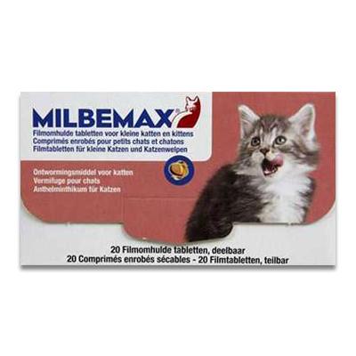 Milbemax Kat Klein/Kitten - 20 Tabletten | Petcure.nl