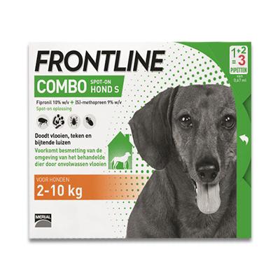 Frontline Combo Hund S - 2-10 kg - 3 Pipetten