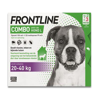 Frontline Hund Combo L (20-40 kg) - 3 Pipetten