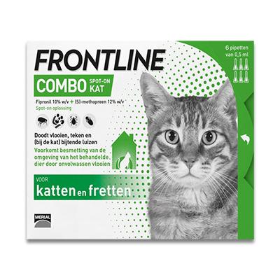 Frontline Combo Kat - 6 Pipetten | Petcure.nl