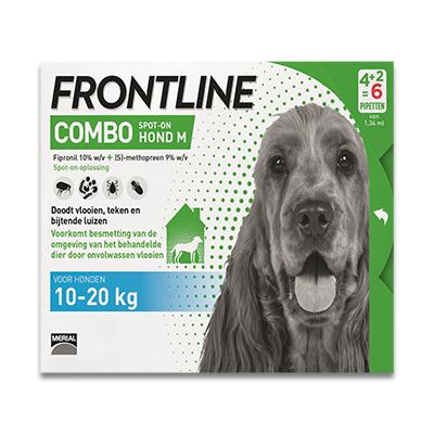 Frontline Combo Hund M - 10-20 kg - 6 Pipetten