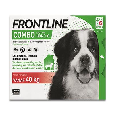 Frontline Combo Hund XL - 40-60 kg - 6 Pipetten