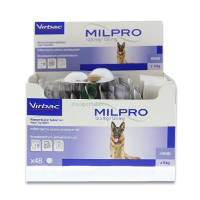 Milpro Grote Hond (Vanaf 5 kg)  - 4 Tabletten