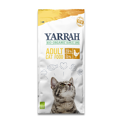 Yarrah Kat Biologisch Adult met Kip -  10 kg | Petcure.nl