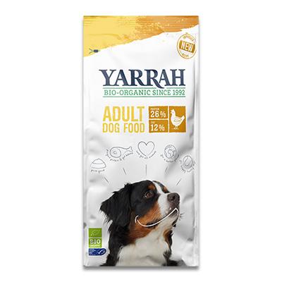 Yarrah Trockenfutter für erwachsene Hunde mit Huhn (Bio) - 2 Kg
