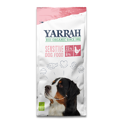 Yarrah Adult Dog Sensitive met kip & rijst (Biologisch) - 2 Kg   Petcure.nl
