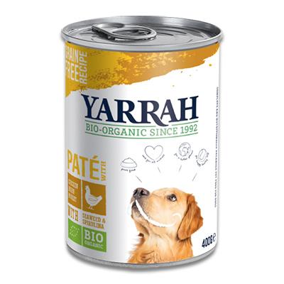 Yarrah Bio Paté Hond - 12 x 400 g (Kip, Spirulina, Zeewier) | Petcure.nl