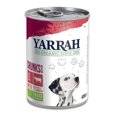 Yarrah Bio Chunks In Soße Hund - 12 X 405 g (Rind/Huhn)