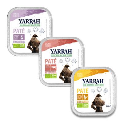 Yarrah Bio Multi Pack Paté Hond - 3 smaken x 2 x 150 g | Petcure.nl