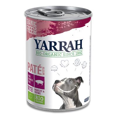 Yarrah Biologischem Schweinepastete Hund - 12 x 400 g (Petersilie, Thymian)
