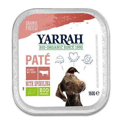 Yarrah Bio Pastete mit Rind, Huhn und Spirulina  - 12 x 150 g (Hund)