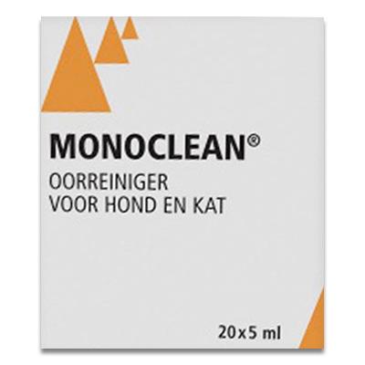Monoclean oorreiniger - 20 x 5 ml | Petcure.nl