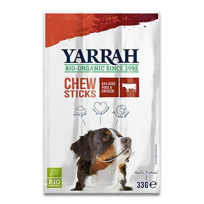 Yarrah Organic Chew Stick Dog (Rund) - 3 x 33 g | Petcure.nl