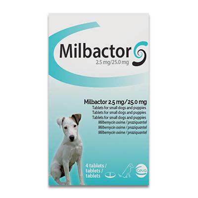 Milbactor Entwurmung fuer Welpen/Kleine Hunde - 4 Tabletten