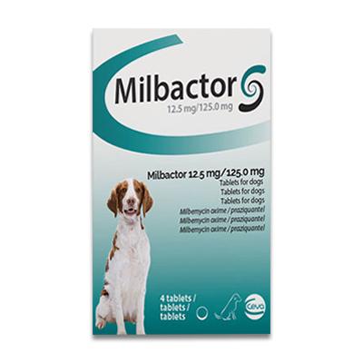 Milbactor Entwurmung fuer Grosse Hund - 4 Tabletten