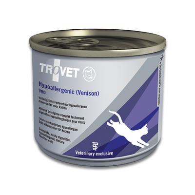 TROVET Hypoallergenic VRD (Venison) Kat - 12 X 200g Blikken