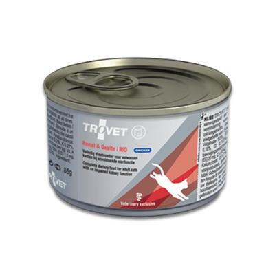 TROVET Renal & Oxalate RID (Chicken) Kat - 24 X 85 g Blik | Petcure.nl