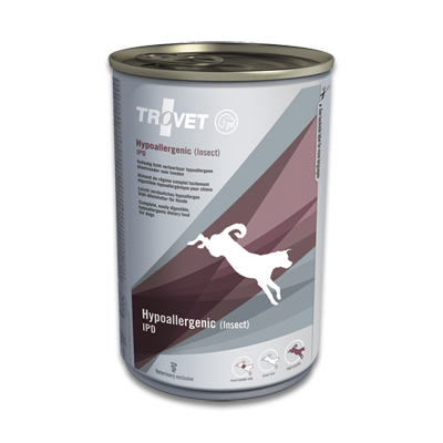 TROVET Hypoallergenic IPD (Insect) - 6 x 400 g Blik | Petcure.nl